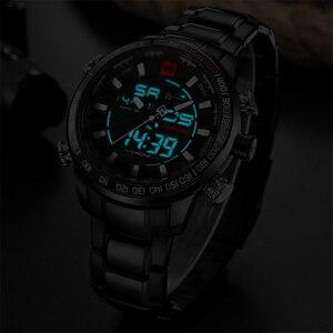 Image 5 - NAVIFORCE Watches Men Full Steel Quartz Digital Clock Waterproof Watch Mens Fashion Blue Watch Relogio Masculino Dropshipping