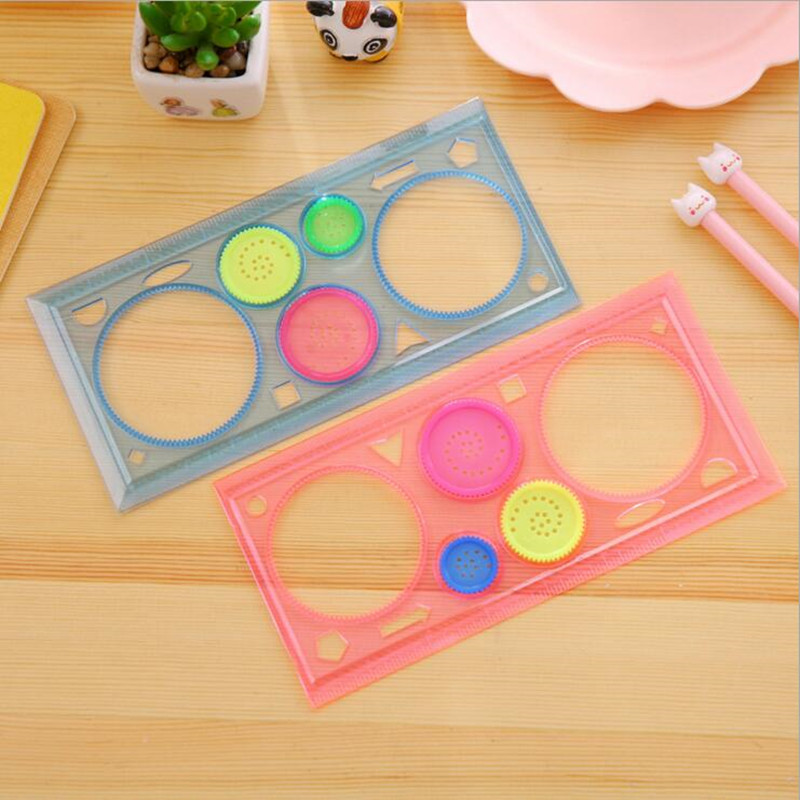 Office & School Supp. ... Drafting Supplies ... 32688091106 ... 2 ... 20packs/lot New Kids' Puzzle Colorful Drawing Ruler set drawing-tool Spirograph ruler students' zakka DIY tools Stationery ...