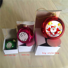sublimation christmas ball personalized blank consumables supplies Thermal transfer printing DIY material 15pcs/lot