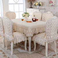 Grade Classical Top Exquisite Thick Jacquard Table Cloth Chair Covers Cushion Chair Cover Pastoral Lace Cloth