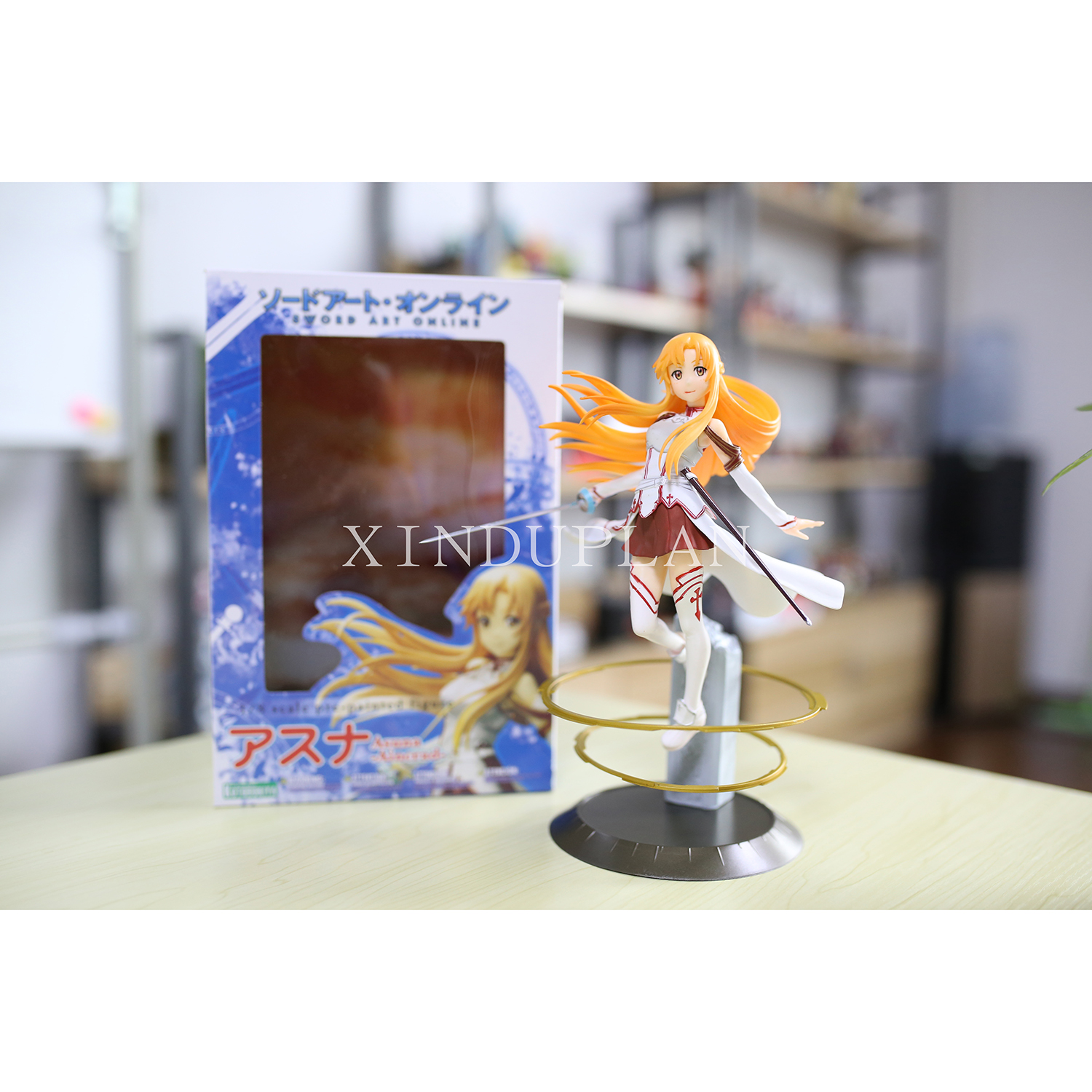 XINDUPLAN Sword Art online Anime Kirito Yuuki Asuna SAO Action Figure Toys 23cm PVC Gifts Collection Model 0467 nendoroid anime sword art online ii sao asada shino q version pvc action figure collection model toy christmas gifts 10cm