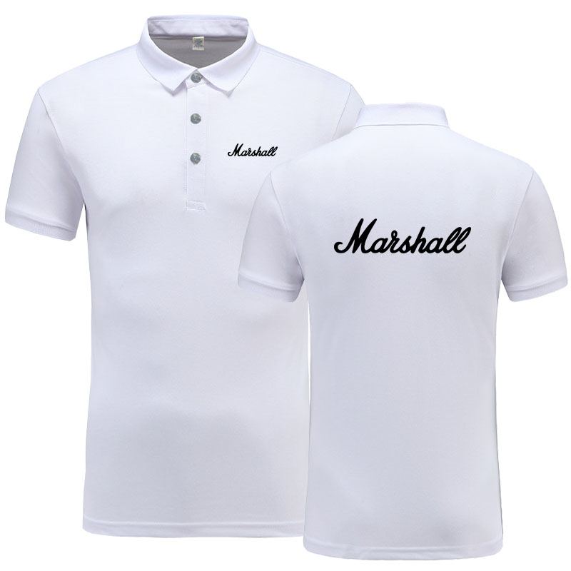 New Summer Short-sleeve   Polo   Homme High Quality Cotton Fashion Marshall logo Print   Polo   Shirt Casual Business Camisa   Polo