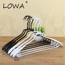 5Pcs Hangers For Clothes Plastic Cloth Hanger Anti Slip Cabide Wieszak Perchas Para La Ropa Kids Women Man Black/White plastic hangers 5pcs