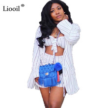 df1c9ec20f1a Liooil Sexy Club 3 Piece Patchwork Lace Up Rompers Womens Jumpsuit Shorts  Long Sleeve White Party