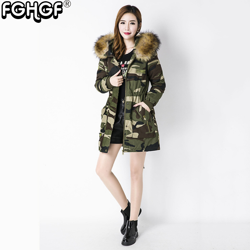 a5ded6cecad3 new winter jacket women Camouflage army green jacket female ...