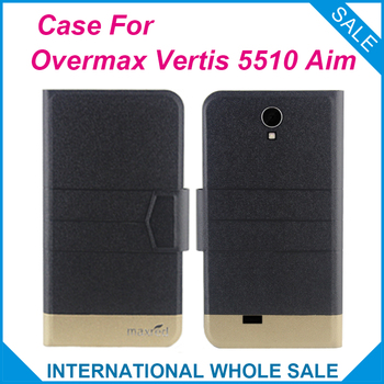 Super! Overmax Vertis 5510 Aim Case,5 Colors Fashion Business Magnetic clasp Leather Exclusive Case For Overmax Vertis 5510 Aim image