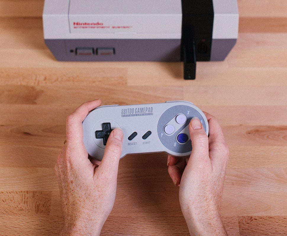 8BitDo Bluetooth Retro Receiver Adapter for NES Console Support PS3 PS4 WII Mote 8BitDo Gamepad to play one NES Console 17