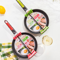 Life83 Breakfast Frying Pan 20CM Non Stick 2 In 1 Frying Pan Non Smoke Divided Grill