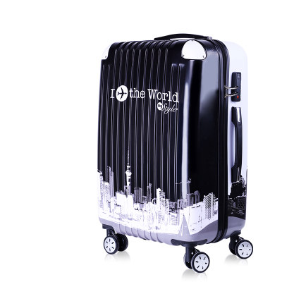 Student luggage trunk, SPINNER rolling luggage, 20 , 24 , 26 inch trolley universal wheel suitcase , Password suitcase