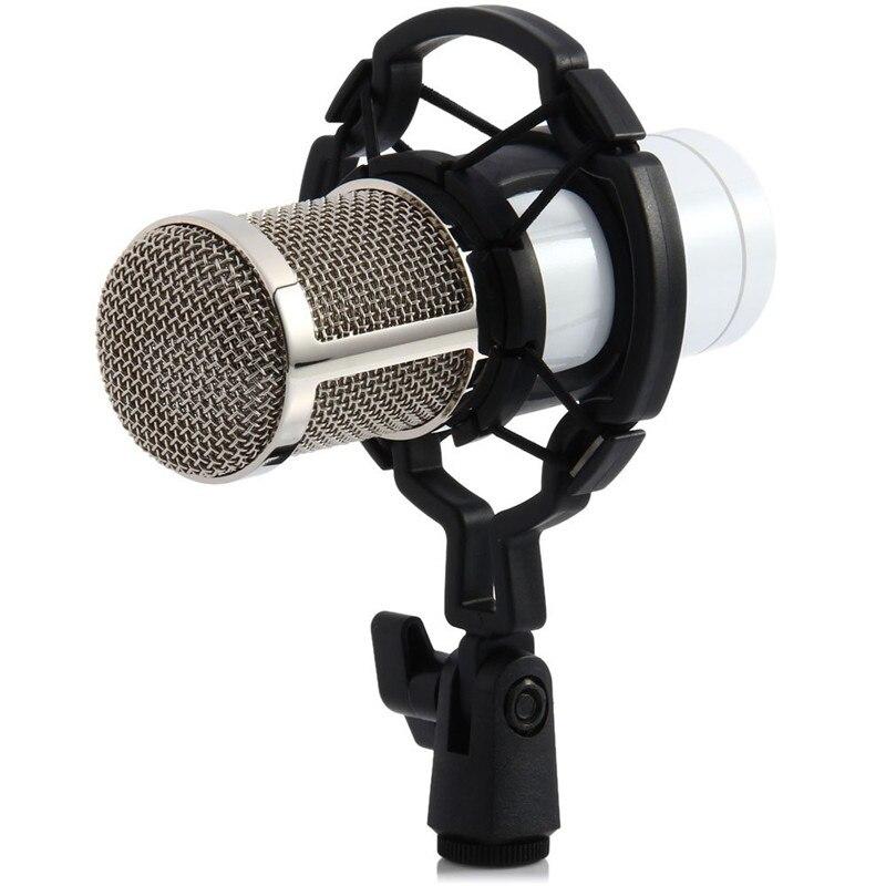 Suporte de plástico para microfone de estúdio, suporte de montagem antichoque para microfone bm 800 700, suporte condensador para microfone