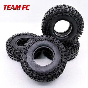 "Image 3 - 4 pezzi 1.9 ""RC Rock Crawler gomma rocce pneumatici/ruote pneumatici per 1:10 assiale SCX10 RC4WD D90 D110 TF2 114MM TRX 4 S104"