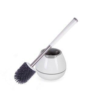 Image 1 - シリコーンポータブルトイレブラシとホルダーソフトナノクリーンブラシ浴室トイレブラシ洗浄ツール