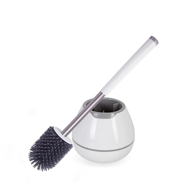 シリコーンポータブルトイレブラシとホルダーソフトナノクリーンブラシ浴室トイレブラシ洗浄ツール