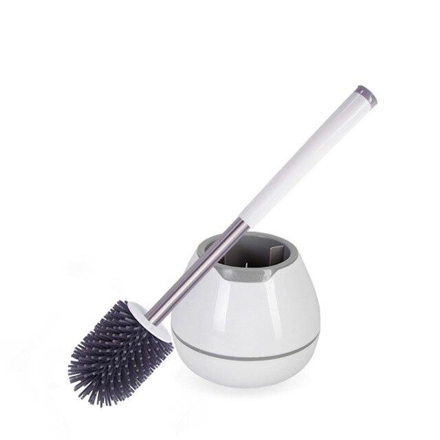 Silicone Portatile Scopino con Supporto Morbido Nano Pulito Pennello Bagno Wc Spazzola di Pulizia Strumento