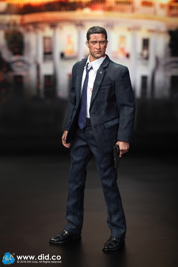 1/6 scale Super flexible figure 12 action figure doll model toy US Secret Service Special Agent injured MARK London Has Fallen