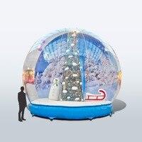 Happy Inflatable Inflatable Snow Globe Decoration Ball Christmas ball inflatable decorations,inflatable merry decorations