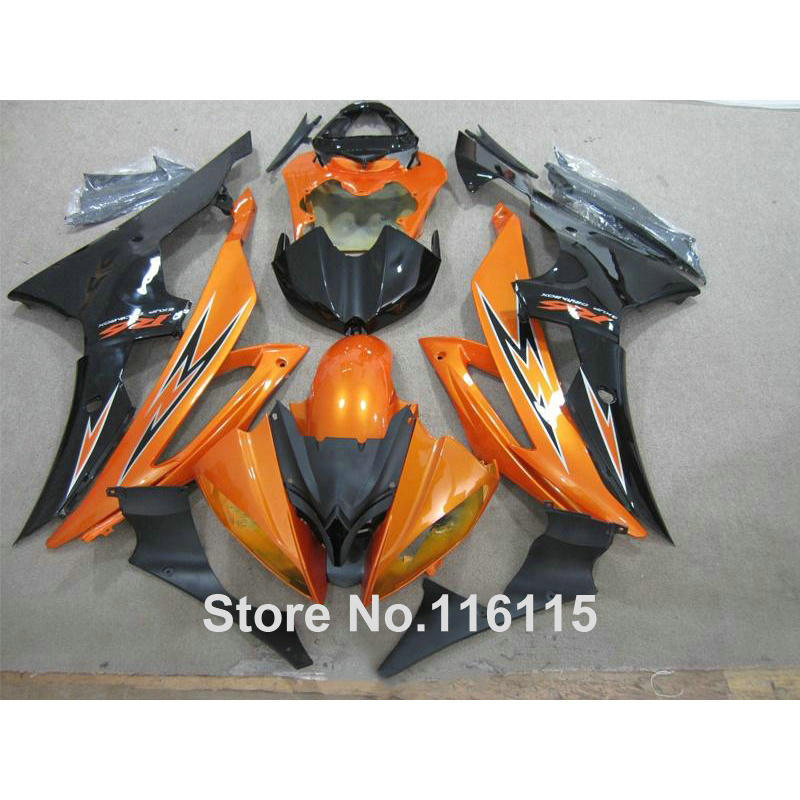 Injection molding bodywork fairings set for YAMAHA R6 2008 -2014 orange black full fairing kit YZF R6 08 09 - 14 ZB80