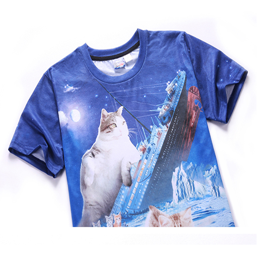 Mr.1991 das neueste lustige Kätzchen der Jugendmode druckte T-Shirt - Kinderkleidung - Foto 3