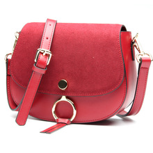 2016 New Hot Fashion Saddle bags Woman Genuine Leather Casual crossbody bag satchels Ladies Messenger font