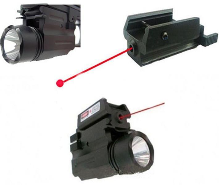 Caccia chasse arme lumières Dot Laser vue lampe de poche LED 2in1 Combo pour pistolet pistolets 1911 M9 Glock 17,19, 20,21, 22,23, 30,31, 32 - 4