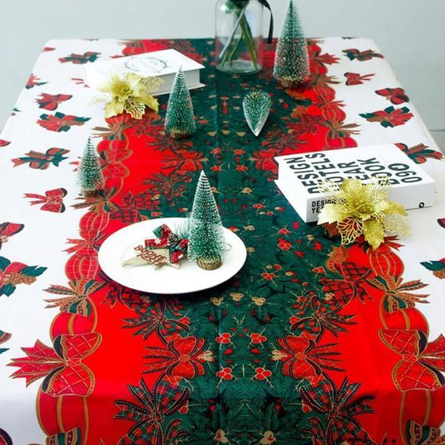 1 pc 150 180 cm Festa de Natal Decoração de Natal Toalha De Mesa toalha e9d4b631f5a32