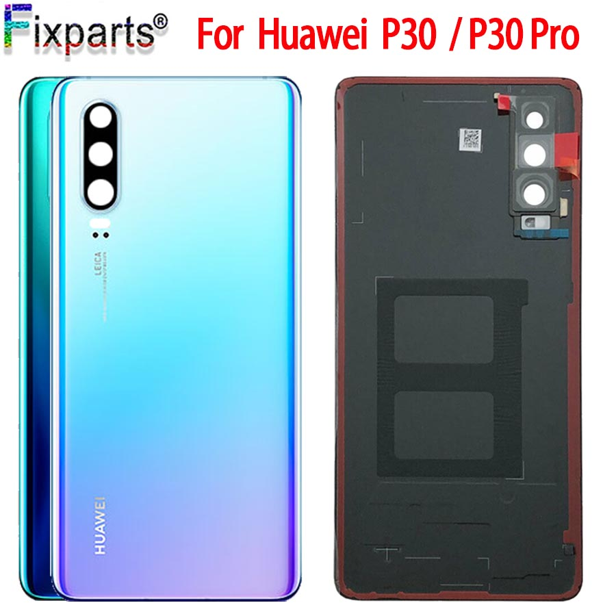 For <font><b>Huawei</b></font> <font><b>P30</b></font> Back <font><b>Battery</b></font> <font><b>Cover</b></font> ELE L09 L29 Rear Glass Door Housing For <font><b>Huawei</b></font> <font><b>P30</b></font> Pro <font><b>Battery</b></font> <font><b>Cover</b></font> With Camera Lens VOG L04 image