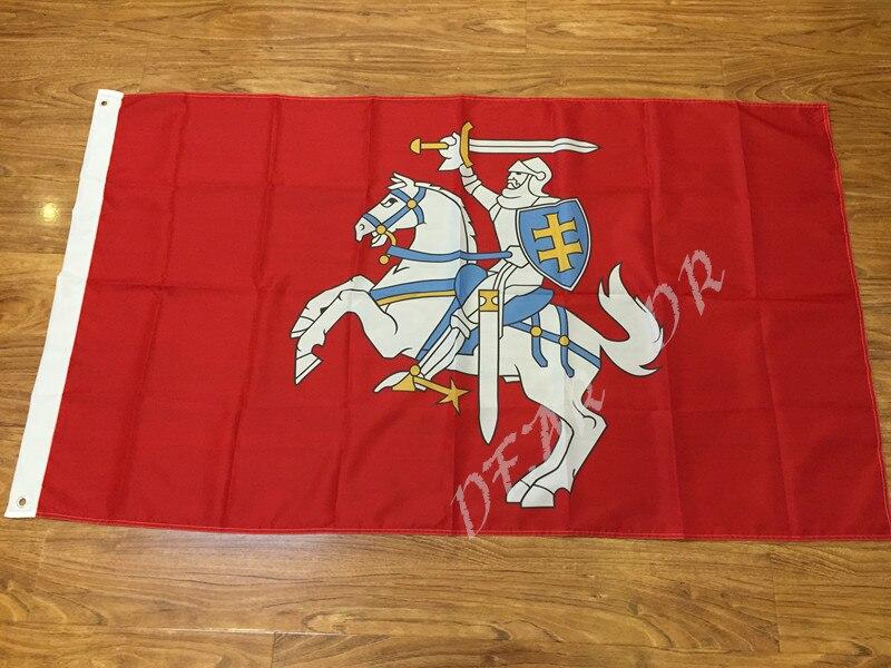 Drapeau de La Lituanie (état) 100D Polyester Double Piqué de Haute Qualité Bannière Ensign Livraison Gratuite deux taille peut choisir