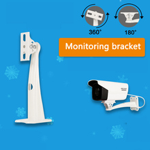 19cm Length Metal Stand CCTV Camera Wall Mount Bracket Support for Security Zoom Box Body Bullet Camera & Housing Enclosure metal adjustable pole column mount loops bracket ip camera for 3g 4g wifi bullet camera accessories cctv security camera bracket