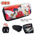 Inuyasha anime Inuyasha wallet bag double zipper bag purse Platycodon large capacity