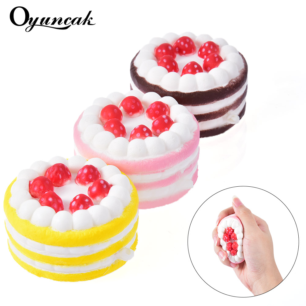 Oyuncak Antistress Squishy Fun Cake Funny Squishe Novelty Gag Toys Stress Relief Toys For Popular Practical Jokes Squeeze Gifts комплект ковриков в салон автомобиля novline autofamily subaru forester ii 2002 2008 универсал цвет черный