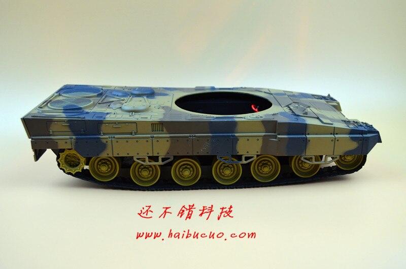 Bricolage 61 châssis de réservoir en plastique à absorption de choc léger avec véhicule à chenilles en caoutchouc