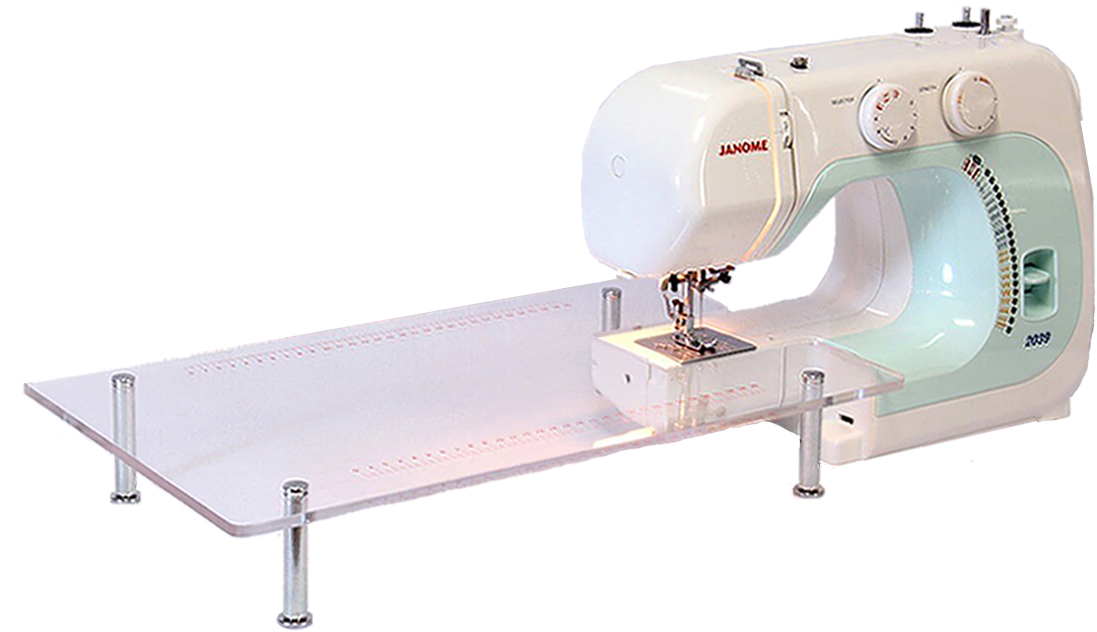 NEW JANOME Machine À Coudre Table D'extension POUR JANOME 2039 2049 392 3022 Taille 50X30 CM transparent acrylique pied