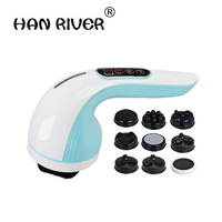 HANRIVER Multi function powerful Rechargeable liposuction machine beauty body scraper Therapy slimming equipment Massager 2017