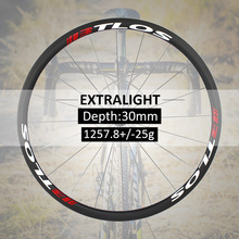 700c wheelset Extralight carbon wheels 1257g Warranty 2 years Hand-built  road clincher 30mm depth carbon road wheels - WRC-30L elite aff dt 350s carbon road bike wheel 25mm or 27mm width tubular clincher tubeless 700c carbon fiber bicycle wheelset