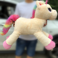 Big Size 80cm Stuffed Animal Baby Dolls Kawaii Cartoon Rainbow Unicorn Plush toys Kids Present Toys Children Baby Birthday Gift