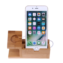 Wooden Holder For iPhone And Apple Watch
