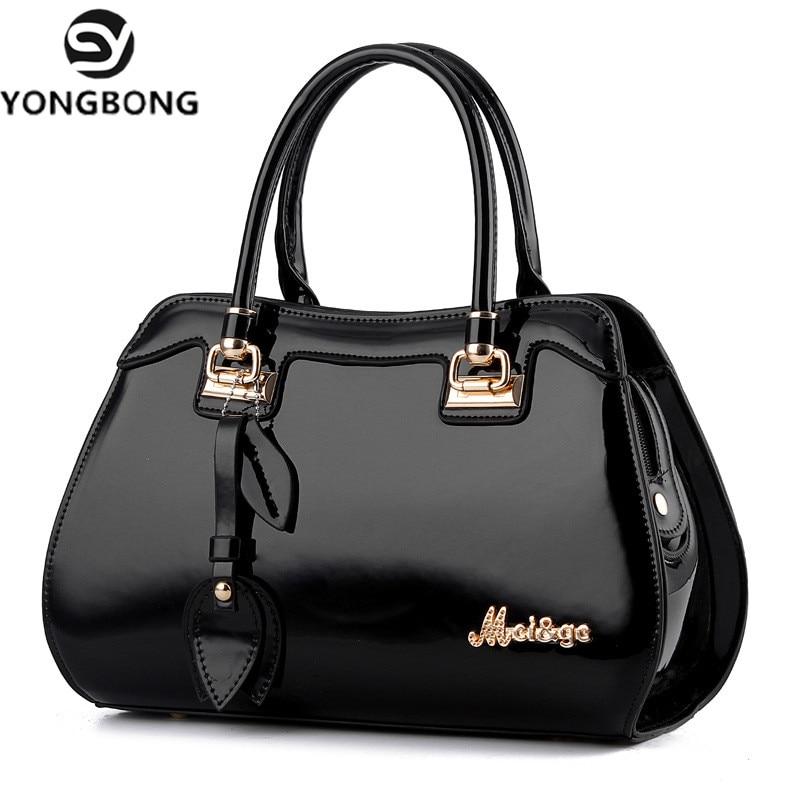 Yongbong 2018 특허 가죽 여성 드롭 가방 숙녀 크로스 바디 메신저 숄더 가방 핸드백 여성 유명 브랜드 bolsa feminina-에서탑 핸드백부터 수화물 & 가방 의  그룹 1