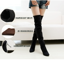 Fashion Womens Frosted Suede Overknee Boots High Heels Spring Autumn Boots Shoes Keen High Cosplay Boots 3 Colors US Size 4-12