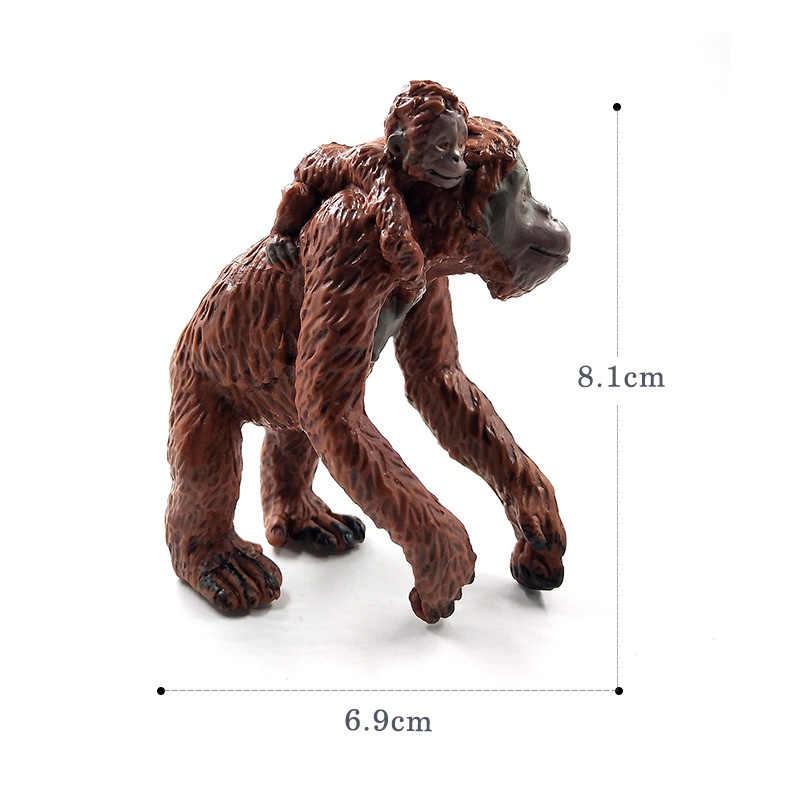 Preguiça Orangotango gorila Chimpanzé Macaco gibbon modelo animal figura de ação de plástico Decoração Gift toy educacionais Para Crianças