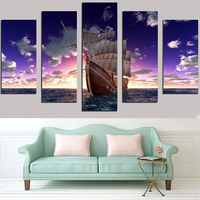 Sea Boat Diamond Embroidery 5D DIY Full Diamond Diamond Mosaic Cross Stitch Diamond Embroidery 5 Pcs