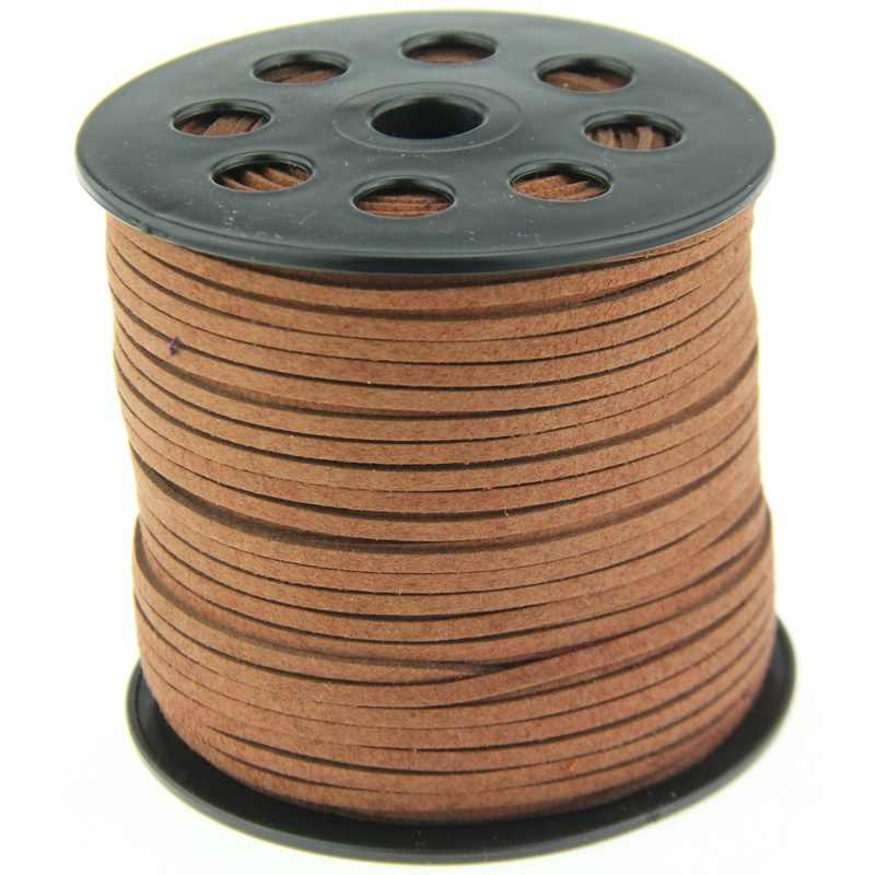 1pc Cute 3M Brown Suede Leather String Jewelry Making Thread Cords Hot DIY Jewelry Accessories Necklaces Pendant Bracelet