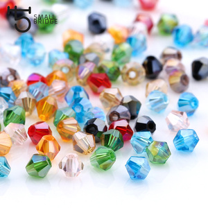 3 4 6mm Austrian Bicone Crystal Beads for Jewelry Making Diy Accessories Multicolor Faceted Glass Spacer Beads Wholesale(China)