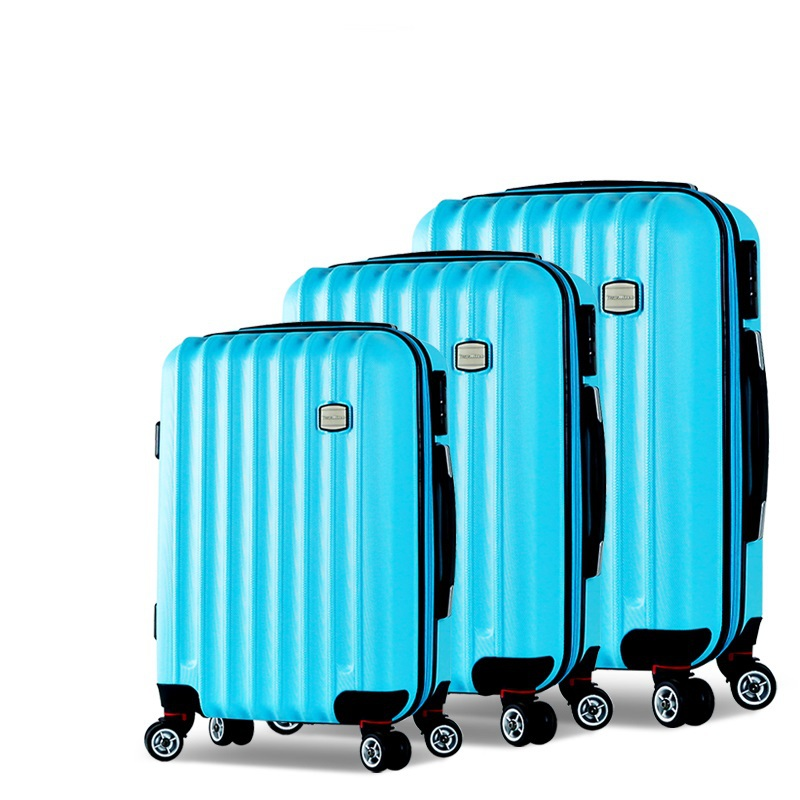 Three piece Luggage Set, ABS,Lock,Zipper,Stripes,Solid,Travel bags ...