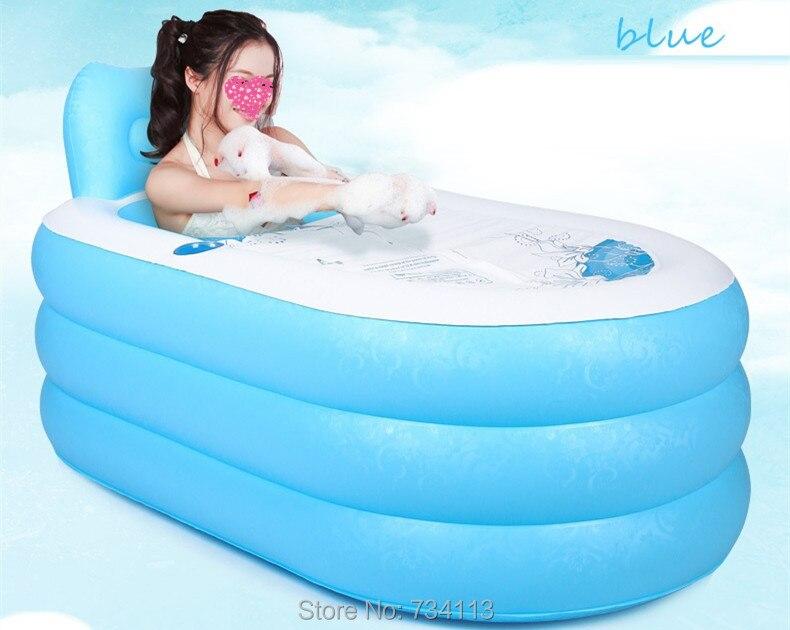 Opblaasbaar Bad Badkamer : Draagbare opblaasbare bad verdikking volwassen vouwen plastic emmer