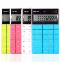 Creativo portable de la manera con el diamante de 12 dígitos Calculadora de bolsillo Mini Portátil Función Dual Power Estudiantes Regalo de Los Niños