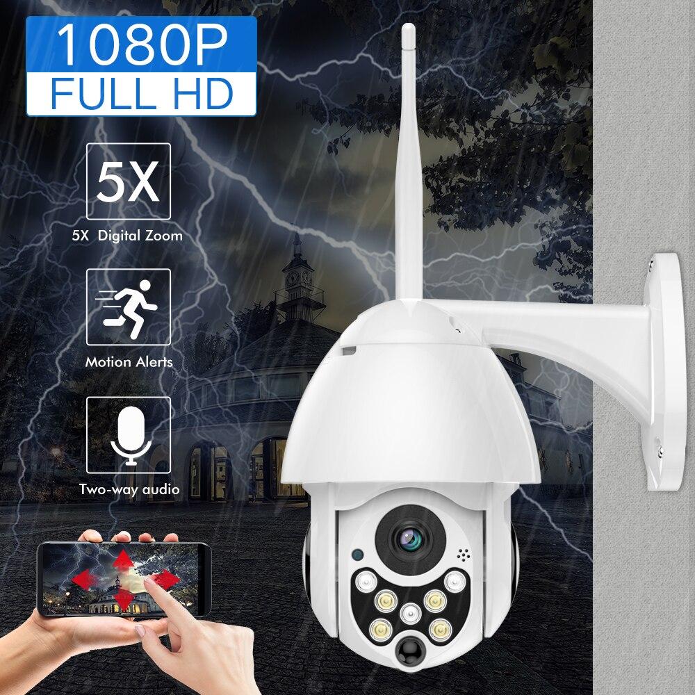 SDETER 1080 P 2MP caméra IP sans fil Wifi Vitesse Dôme PTZ Extérieure IP66 Onvif Two Way Audio IR vision nocturne CCTV caméra de sécurité IP