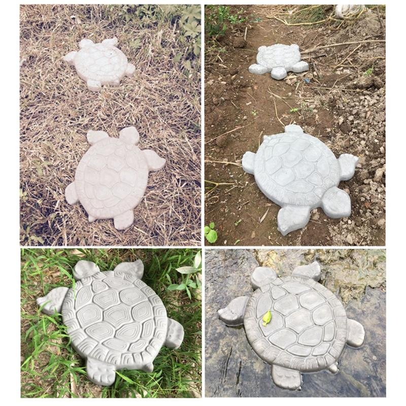 1pcs Turtle Path Mold Plastic Stepping Stone Cement Concrete Paving Molds Road Making Tool For Garden Pavement Courtyards Garden Supplies