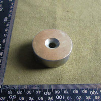 Atacado Strong Bloco ímã 50*20mm com furo 1 Buraco Rebaixada Ímã de Neodímio Rare Earth 50mm x 20mm