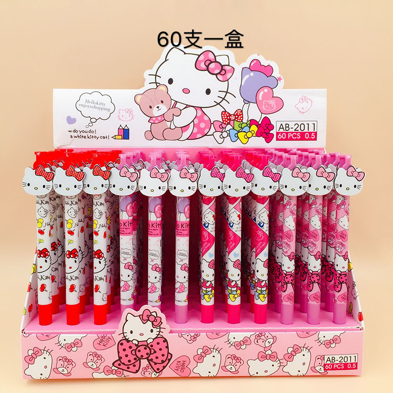 e6fdcea82 60pcs/lot Kawaii Hello Kitty Gel Pen 0.5mm Black Ink Cute Pens for Kids  Gift School Supplies Stationery Office Accessories - aliexpress.com -  imall.com