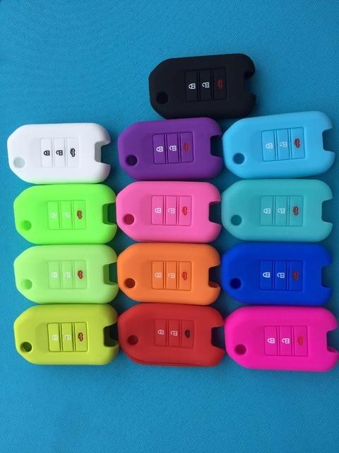 Pusakieyy 1 o 2 piezas 3 botones de silicona para llave de coche para Honda FIT XRV VEZEL CITY JAZZ CIVIC HRV cívicos Crider CRV Protector de la cubierta